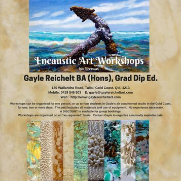 Want to learn to paint with an ancient 2000+ year old medium called Encaustic, made with molten beeswax.